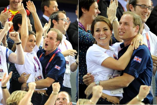 Wills and Kate at cycling