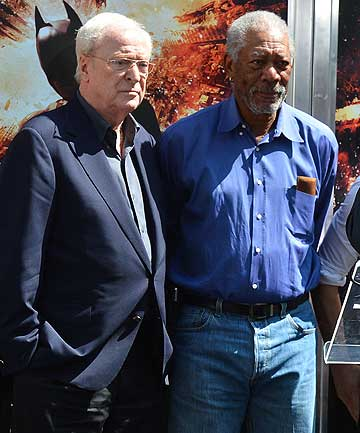 Michael Caine and Morgan Freeman