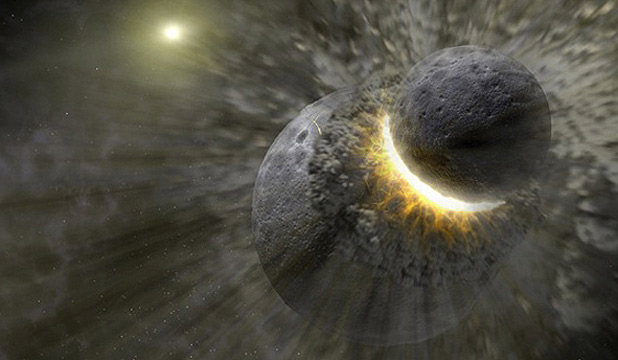 BIG BANG: A Nasa representation of the collision.