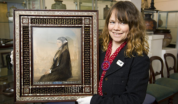 KIWI BUYER: Dunbar Sloanes head of art, Alice Masters, with if Portrait of Hoda Shaarawinf by Feodor Zakharov.