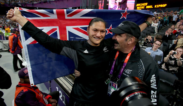 Valerie Adams and Jean Pierre Egger