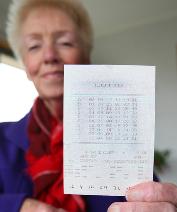 Ann Gopi and her Lotto ticket