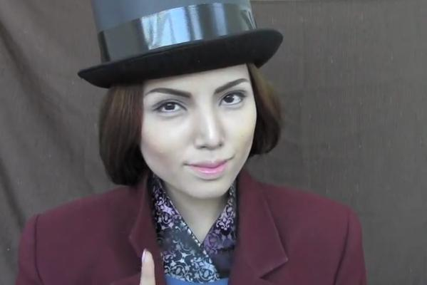 Promise Tamang Phan does Willy Wonka.
