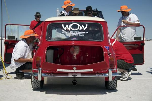 Nelson Mini breaks speed record at Bonneville Speed Week.