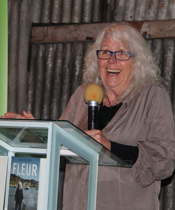 OPTIMISTIC OUTLOOK: Author and restaurateur Fleur Sullivan speaking in Central Otago on Sunday.