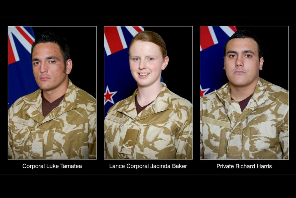 The New Zealand soldiers killed by an improvised bomb in Afghanistan.
