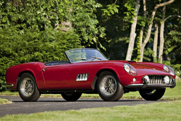 The 1960 Ferrari 250 GT LWB California Spider Competizione which sold at auction in the US for US$11.2 million.
