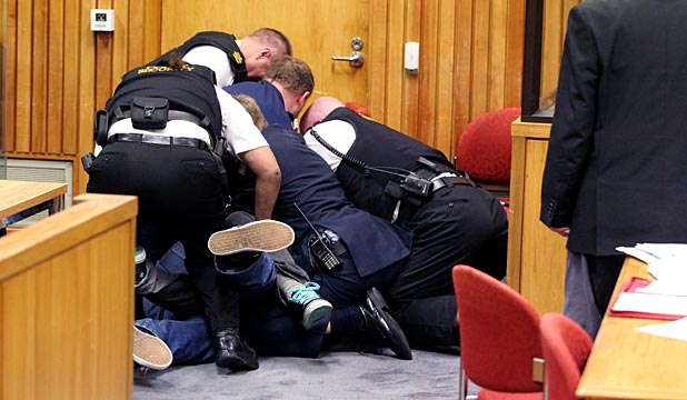New Plymouth District Court brawl