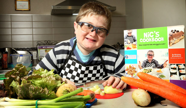 10-year-old Nicholas Brockelbank is about to launch his new cookbook