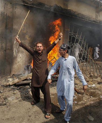 Pakistan protestor 
