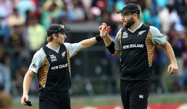 Kane Williamson and Daniel Vettori