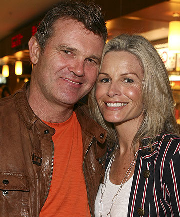 FAMILY SUPPORT: Martin Crowe and wife Lorraine Downes.