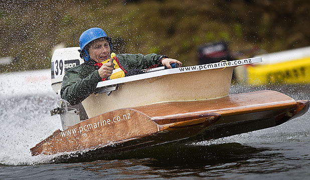STYLISH CRAFT: John Booker takes in the Whitianga Bath Tub Race & Birdman Competition.