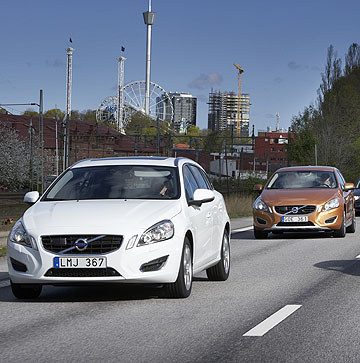 Volvo cars demonstrates its new traffic jam assistance self-driving technology.