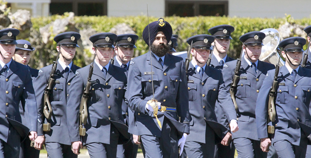 Indian Officer in Royal New Zealand Air Force