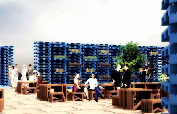 Gap Filler's Summer Pallet Pavilion