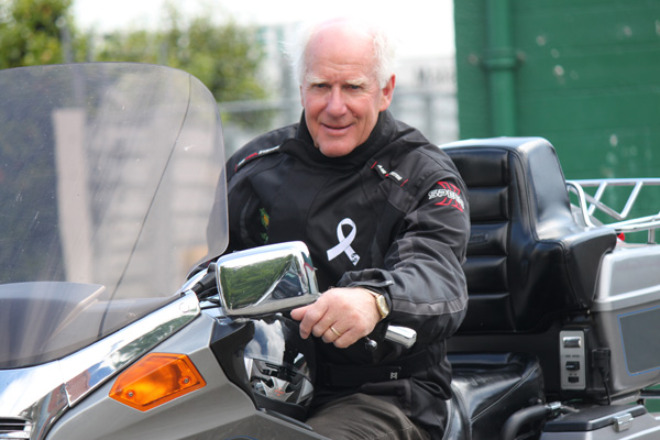 David White is looking forward to participating in the White Ribbon Ride.