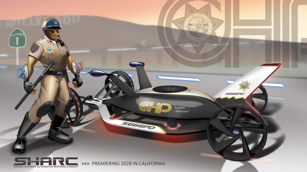 The Subaru SHARC (Subaru Highway Automated Response Concept) for the LA Design Challenge.