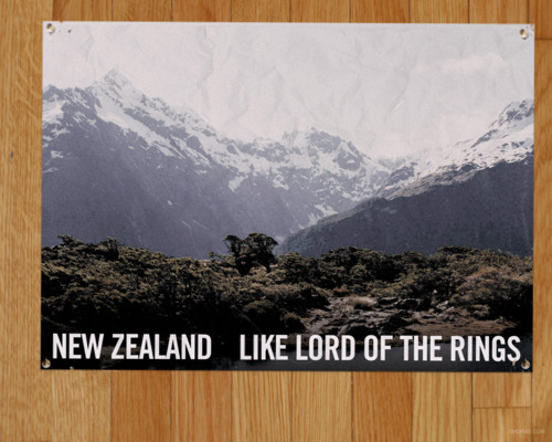 Murray's office poster - NZ, like Lord of the Rings