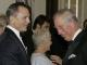 Britain's Prince Charles talks to actors Daniel Craig as they arrive for the royal world premiere of the new 007 film