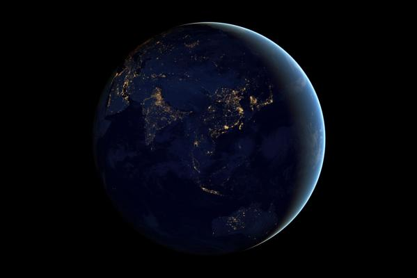 Black marble earth