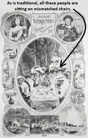 A typical Christmas dinner (Sir George Grey Special Collections, Auckland Libraries, AWNS-19051221-1-1)