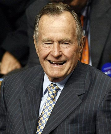 UNWELL: Former US president George H W Bush.