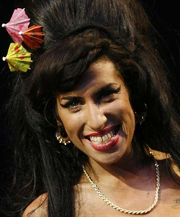 'UNEXPECTED TURN': Amy Winehouse at the Glastonbury Festival in 2008. A postmortem found that she had a blood alcohol level five times the legal driving limit after she died.