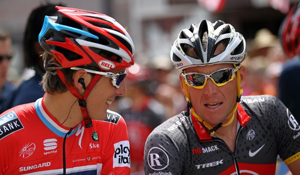 Andy Schleck and  Lance Armstrong