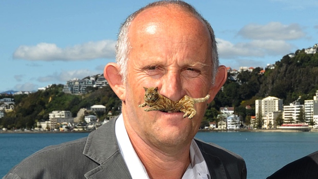 Gareth Morgan cat moustache (credit: Jackson Wood)