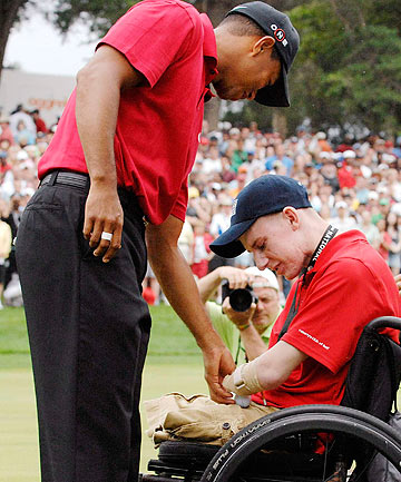Tiger Woods and Brendan Marrocco 