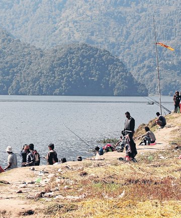 Fishing in Nepal
