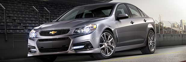 The new Chevrolet SS which is not wanted in Israel because of its SS moniker.