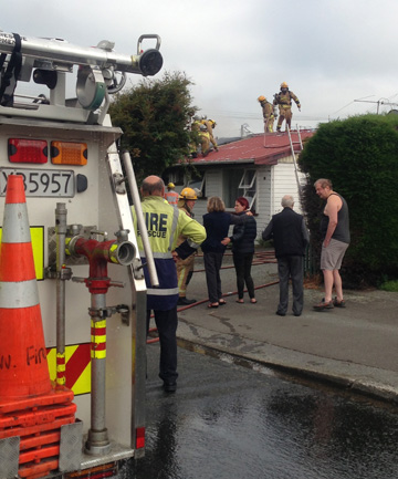 Fire in Heywood St, Invercargill