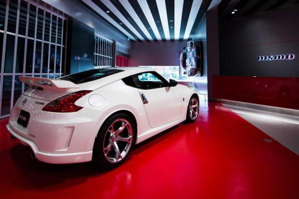 The 370Z Nismo in the new Nismo HQ showroom.