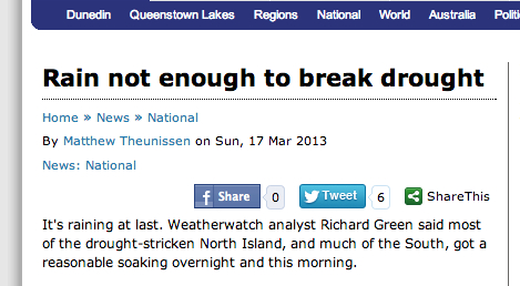 drought headline