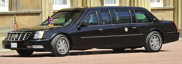 The armoured limousine used to carry US President Barack Obama.