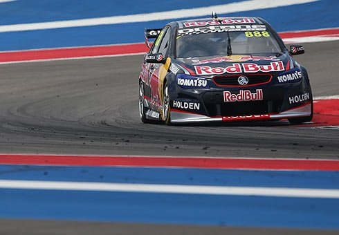 Craig Lowndes during practice for the Austin 400, round five of the V8 Supercar Championship Series at Circuit of The Americas.