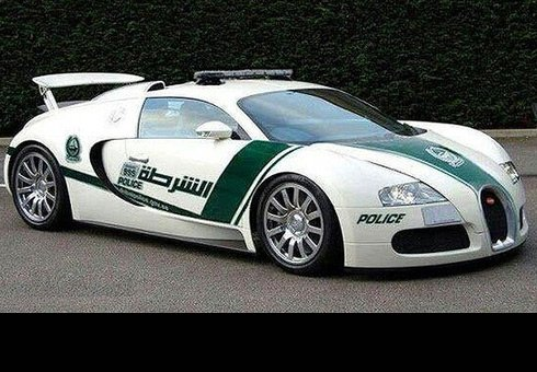 Dubai Police adds a Bugatti Veyron to its fleet.