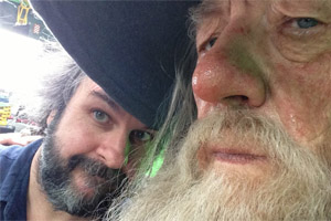 Peter Jackson and Ian McKellen
