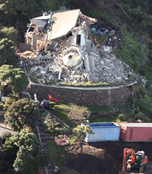 The June 13 quake spelled the end for the Lytellton Timeball station.