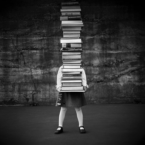buried by books