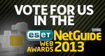 Web awards button