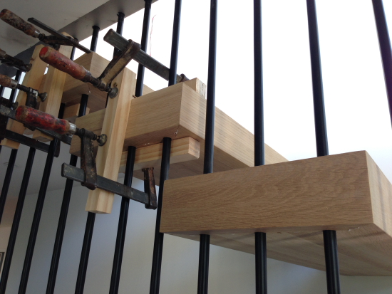 stairs clamped