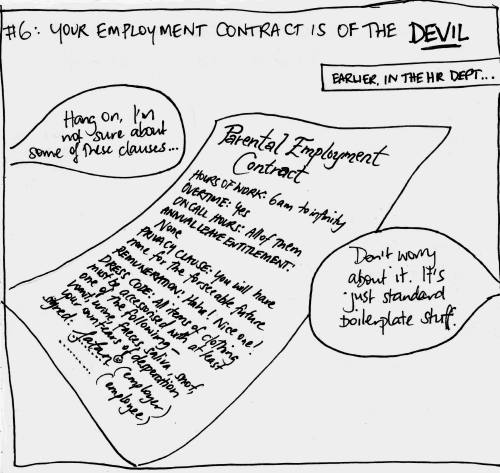 #6: Your employment contract is of the DEVIL
