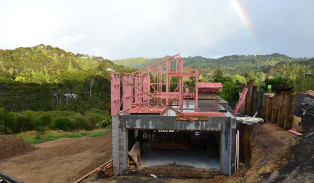 The next stage of the build as timber framing goes up | Stuff.co.nz