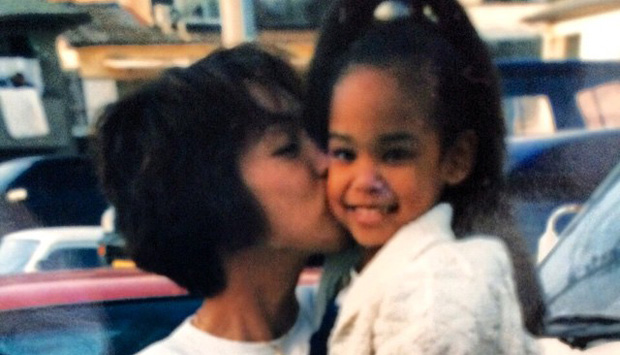 A Young Ariana Miyamoto Miss Japan and her mom