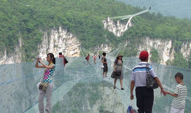 China To Open Worlds Highest And Longest Glass Bridge Stuffconz - China opens worlds longest skywalk