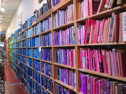 pink and blue books