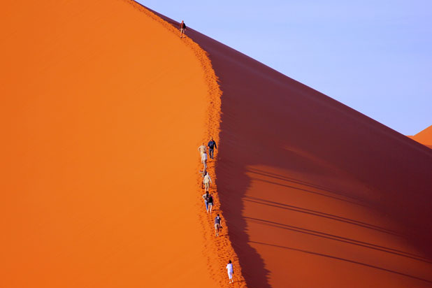 Conquering Big Daddy in Namibia's Namib Desert